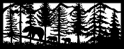 24 x 60 Three Bears Mountains Trees