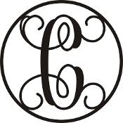 Monogram Letters Metal CR C