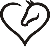 Heart Horse Metal Wall Art